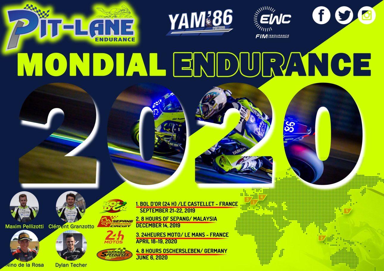Pitlane Endurance #86 est heureux de vous annoncer son programme 2019-2020.